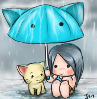 I will shelter you lil kitty. by girlgirlhi
