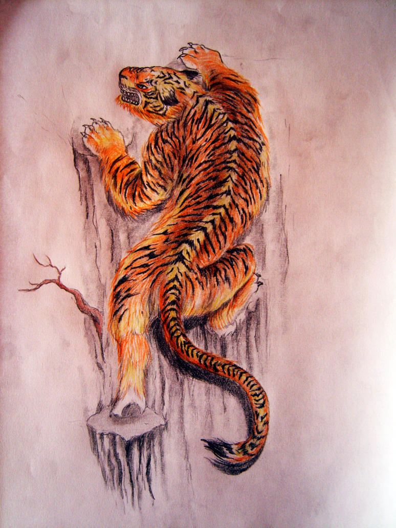 Climbing Tiger Tattoo Pictures to Pin on Pinterest ...