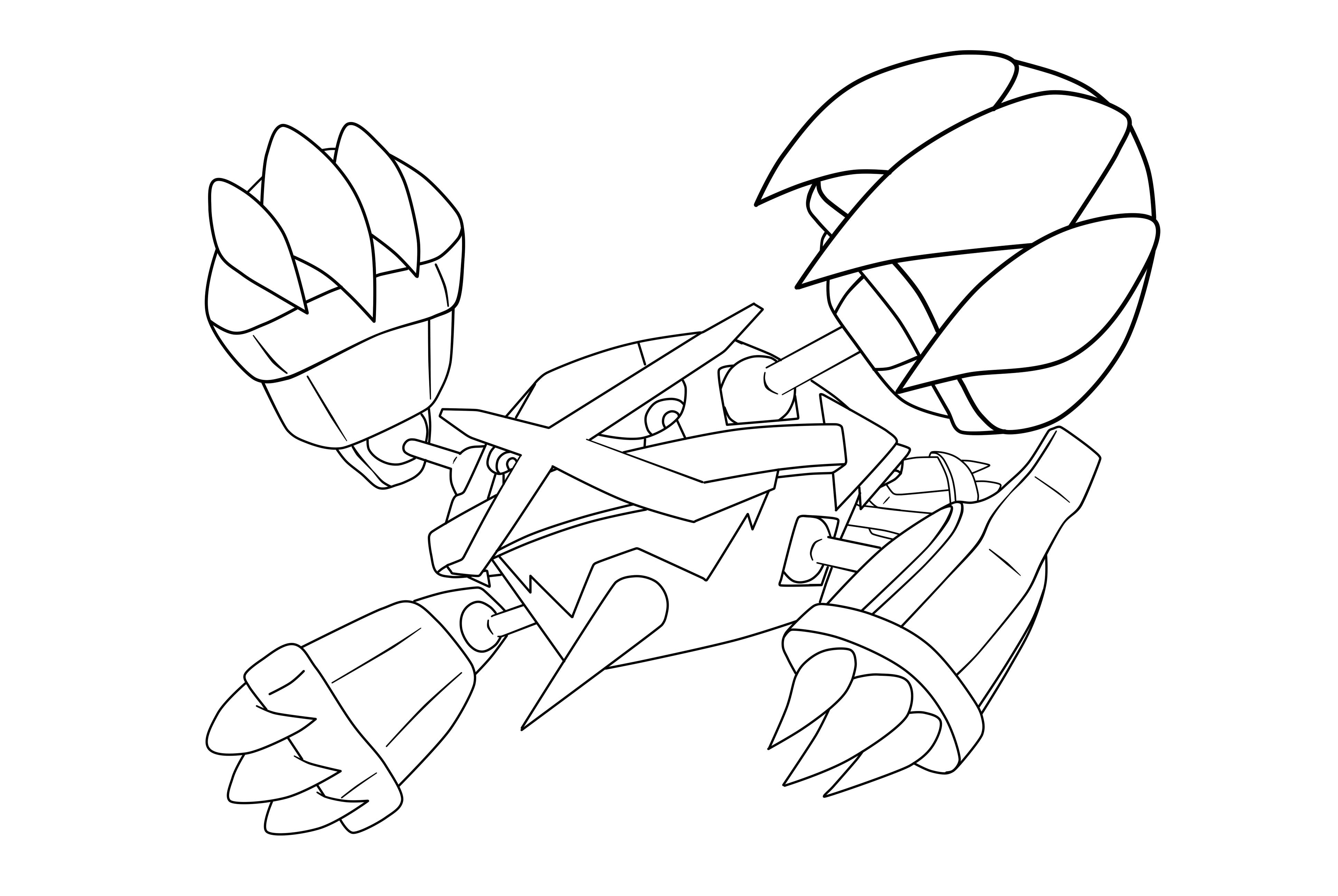 metagross pokemon coloring pages - photo#11