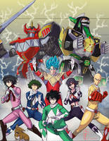 Commission: Anime Rangers! by TheAngryAron