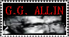 G.G. Allin stamp by WhiteBoneDemon