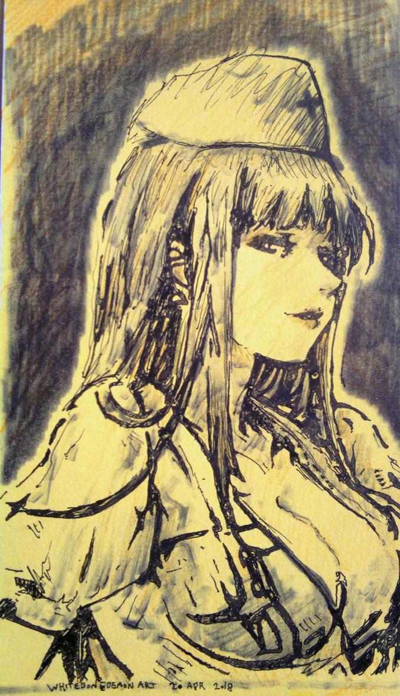 Eerie Nurse Sketch by WhiteBoneDemon