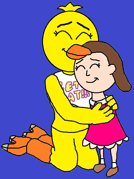 Chica and Susie Hugging! (Coming Home)