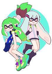 Squid miku and gumi!!