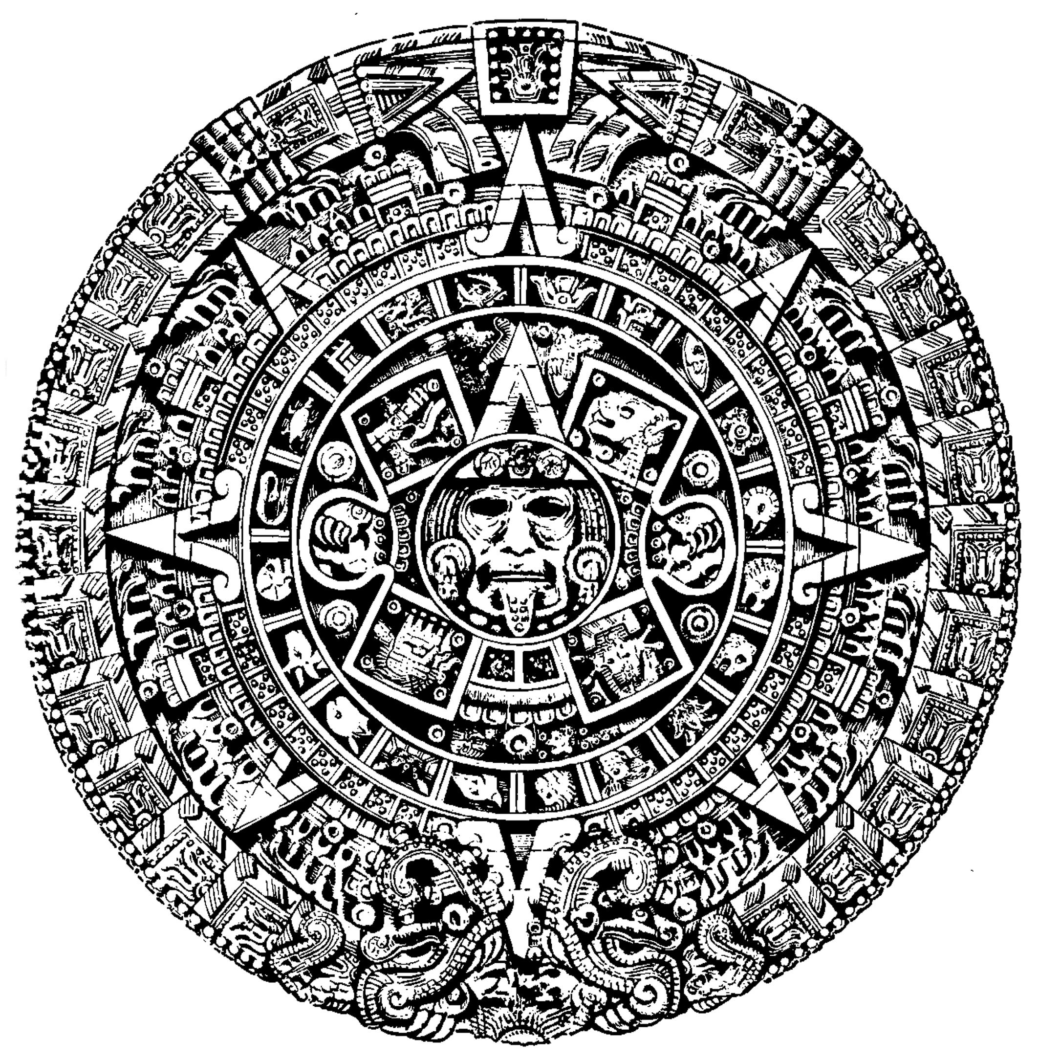 Mexican Calendar Art : Mexican calendar by louboumian on deviantart