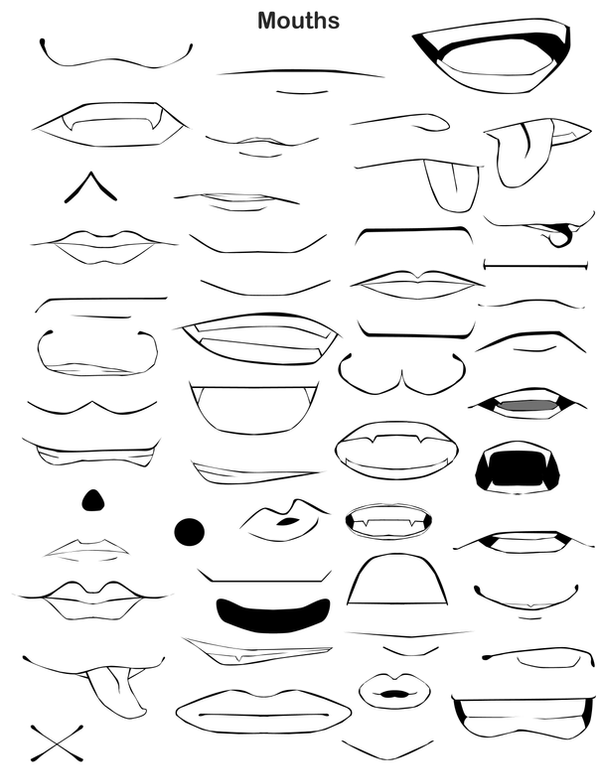 Anime Male Mouth Coloring Pages