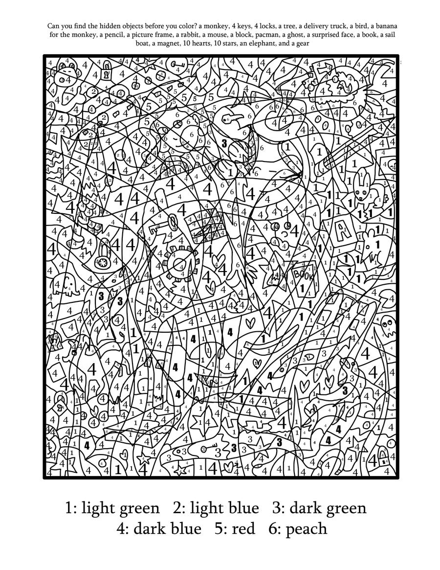 Super awesome best color by number ever part 2 by for Super hard coloring pages
