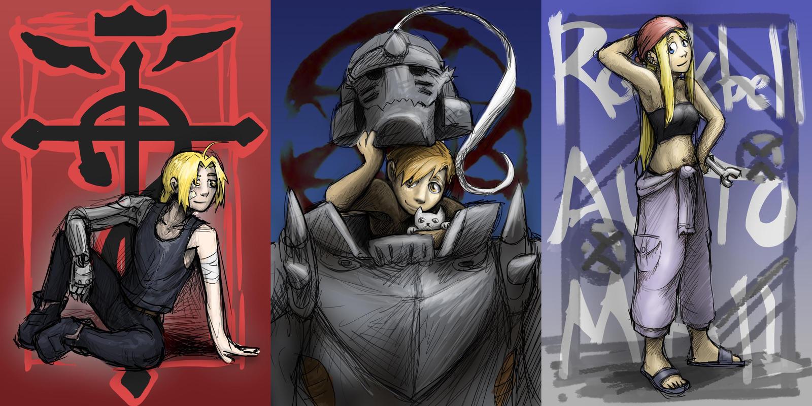 Fullmetal Alchemist Characters by NireLeetsac on DeviantArt