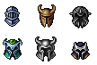 Helmets - SpriteArt by Anevis