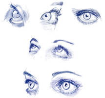 Eyes - sketches by Anevis