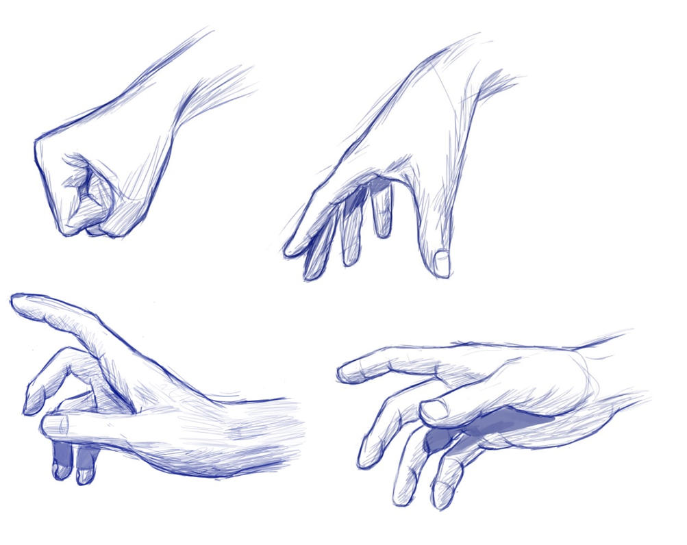 Hands sketches by anevis on deviantart for Easy hand drawings