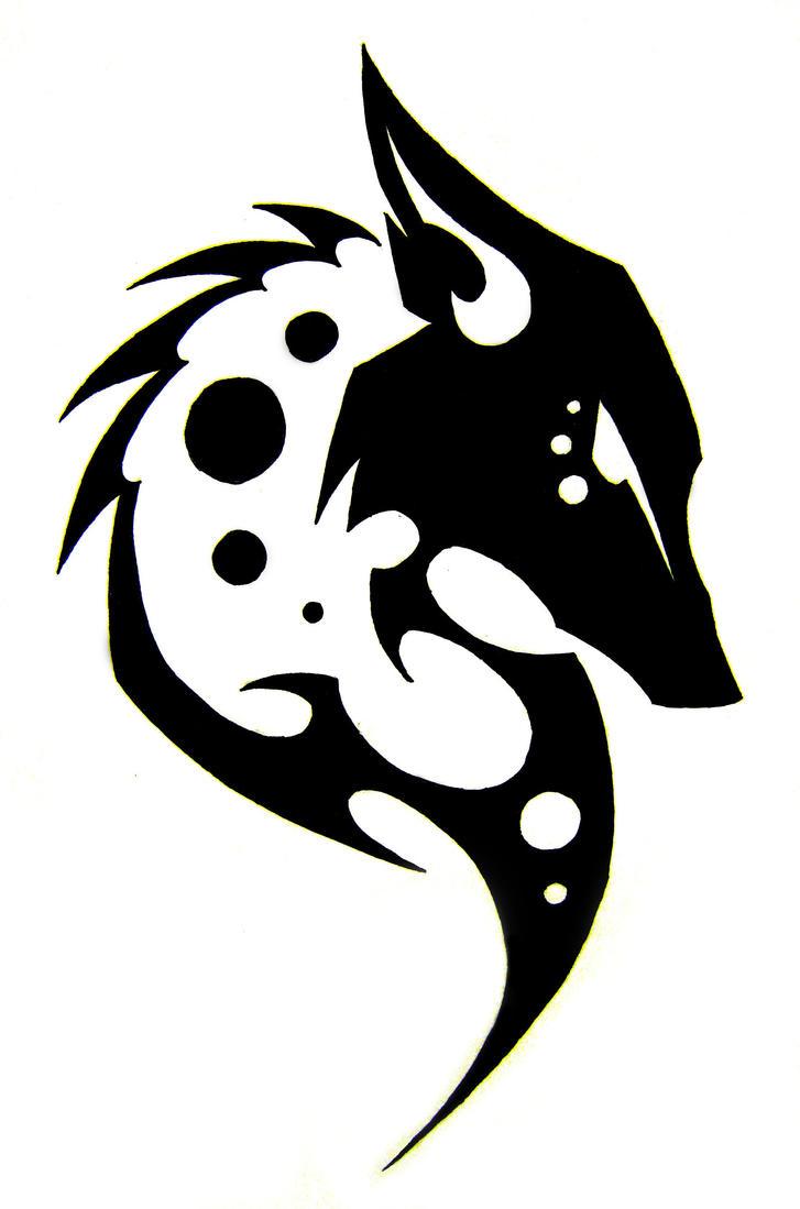 tribal fox head tattoo...