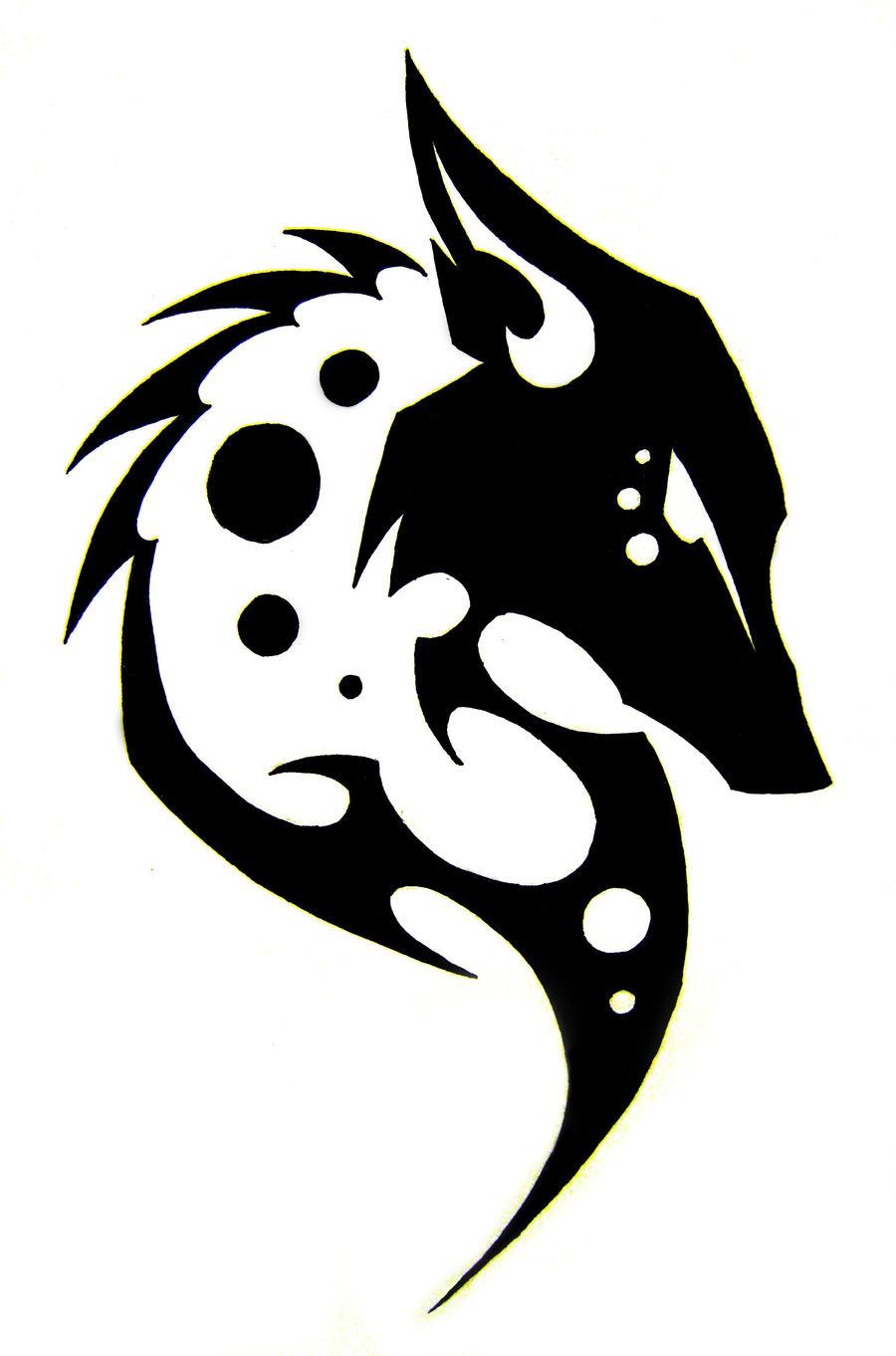 tribal fox head tattoo