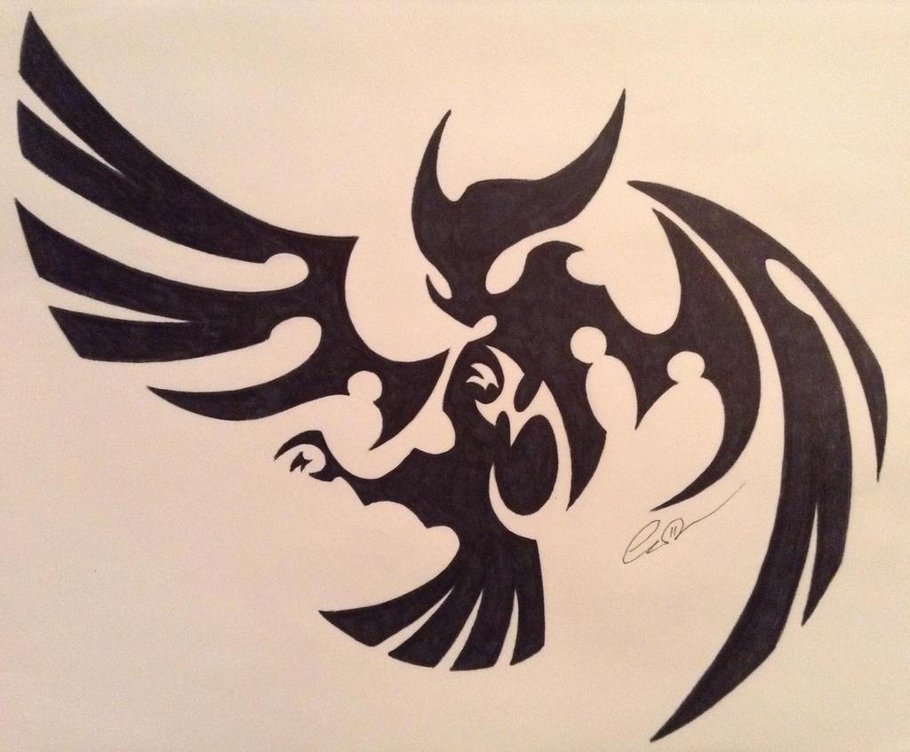 tribal owl by akeleu wolf on deviantart. Black Bedroom Furniture Sets. Home Design Ideas