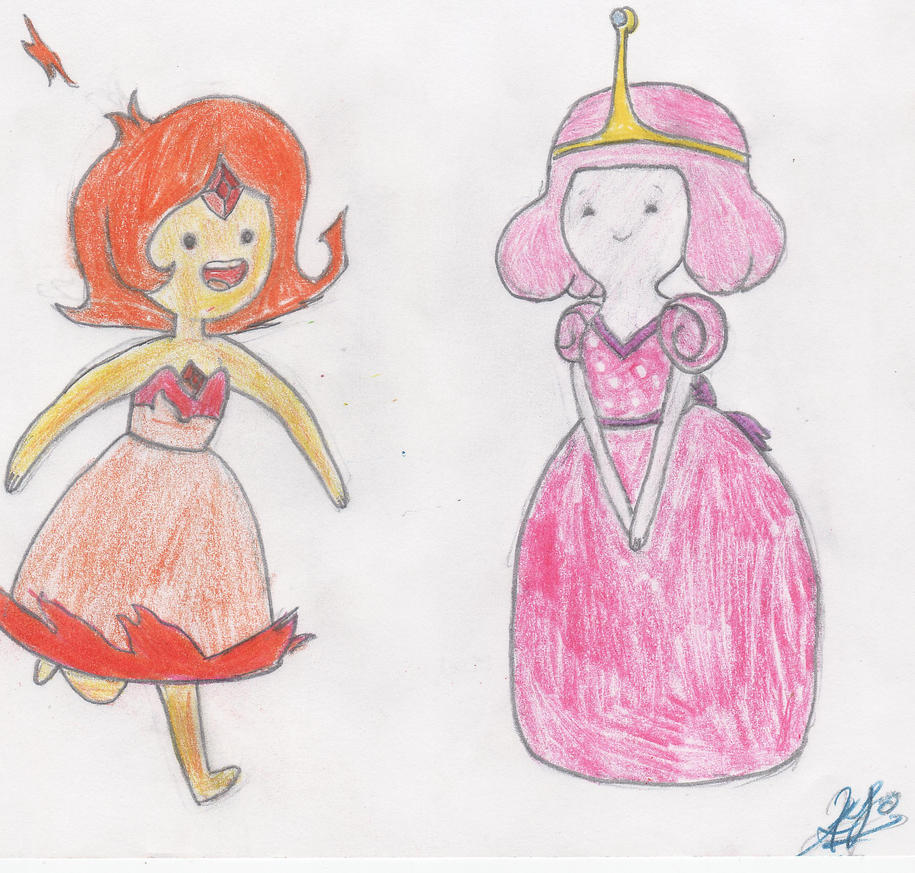 Young Princess Bubblegum and Flame Princess by kaytikookie on ...