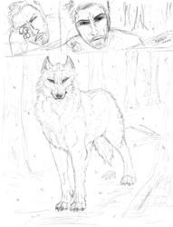 Wolf Comic Wip