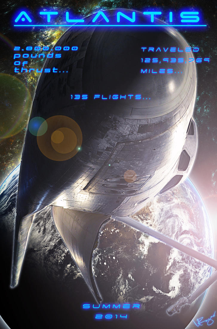 Space Shuttle Atlantis by ezra91020 on DeviantArt