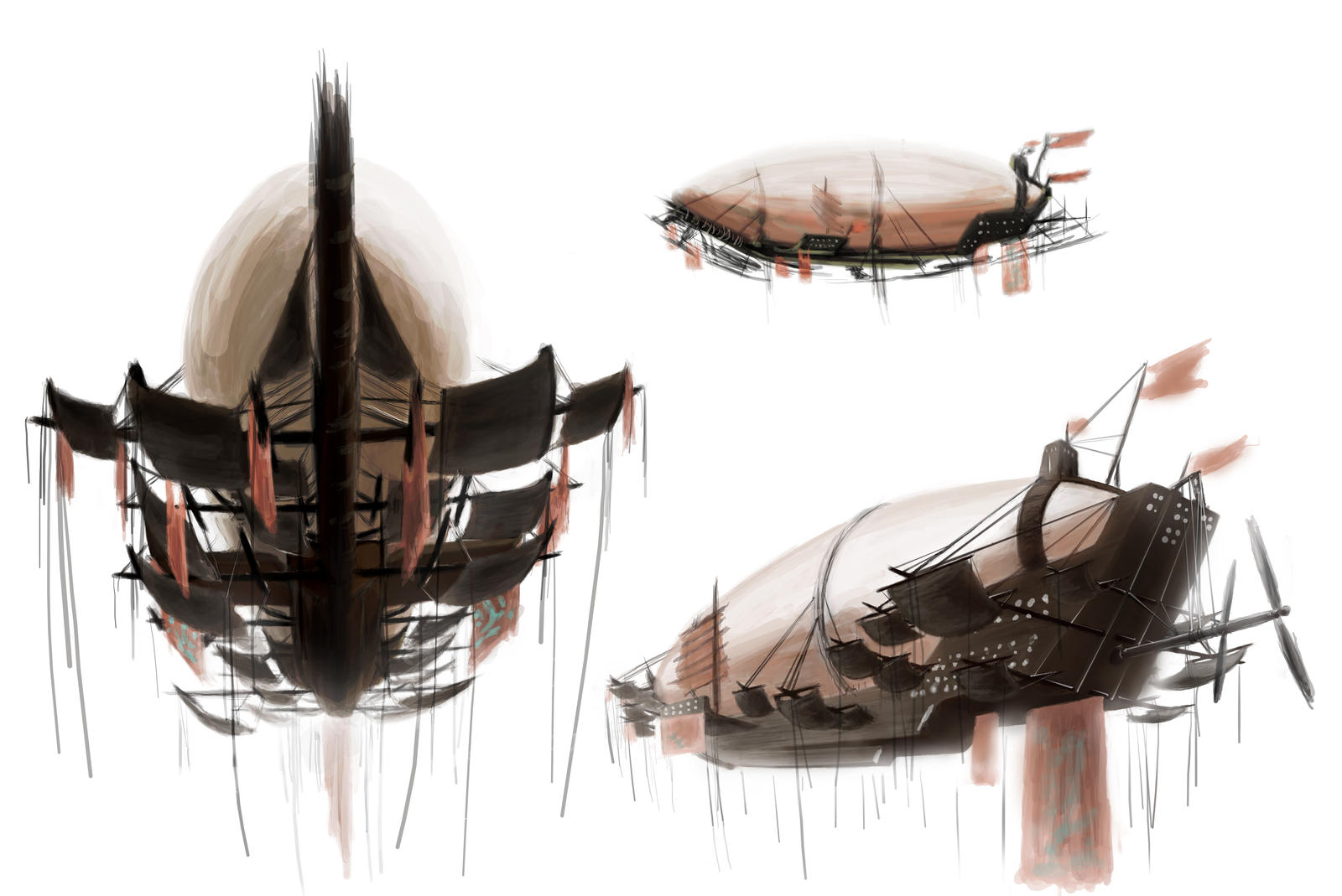 Harq' Airship-ConceptPainting by A-Nessessary-Studio
