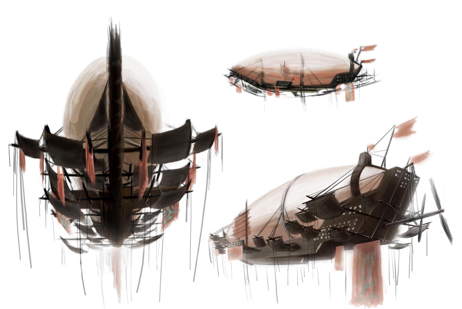 Harq' Airship-ConceptPainting