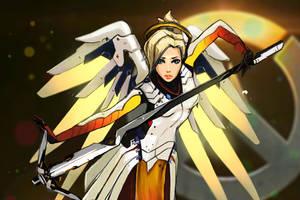 Mercy-Overwatch by IronicRocknrolla