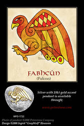 Falcon - Celtic Animals by Illahie