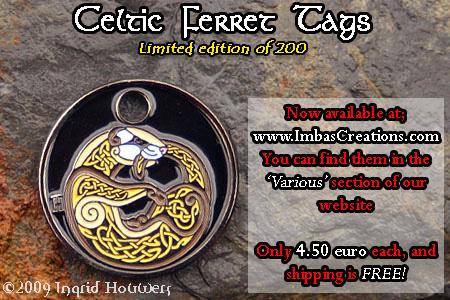 Celtic Ferret Tag by Illahie