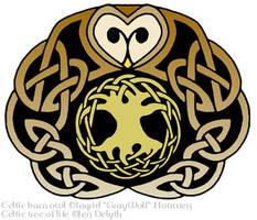 Celtic Barn Owl by Illahie