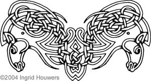 Celtic horses tattoo design by Illahie