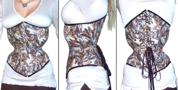 Underbust Wolves Corset by Illahie