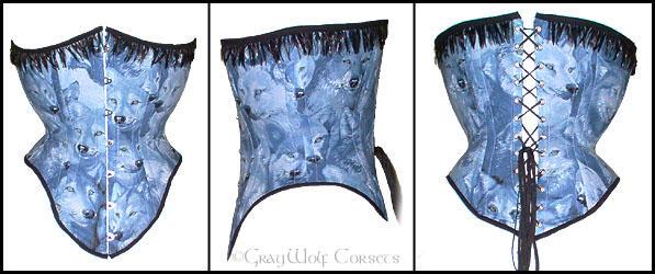 Equestrienne corset - Detail by Illahie