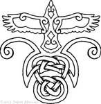 Celtic Crow tattoo
