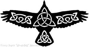 Celtic Crow Tattoo 2
