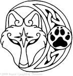 Silivrenwolf pendant design