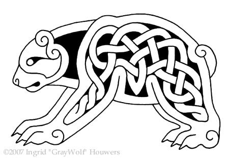 celtic bear by illahie on deviantart