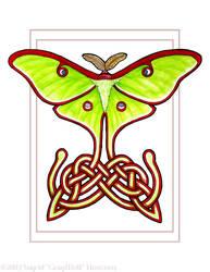 Celtic Lunar Moth by Illahie