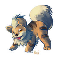 Growlithe by Silverkiwi78