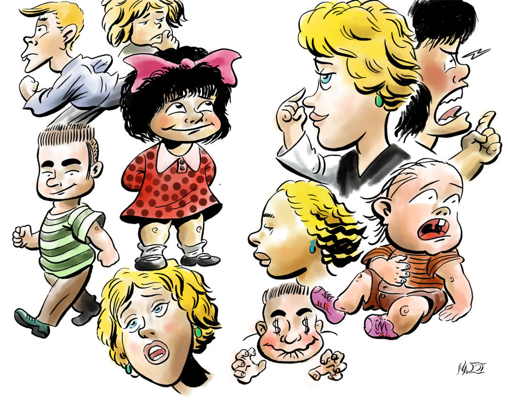 Mafalda and friends by nassosv48