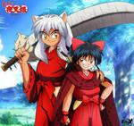 Father and daughter (Yashahime)