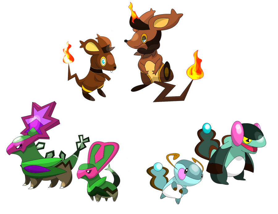 Fakemon Starter Contest by SteveO126 on DeviantArt