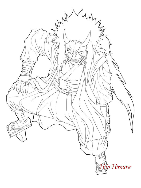 kabuki coloring pages | Oni Mask Coloring Pages