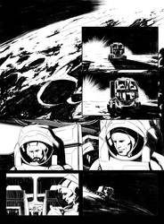 Sci-fi comic page 1 by vitorgorino