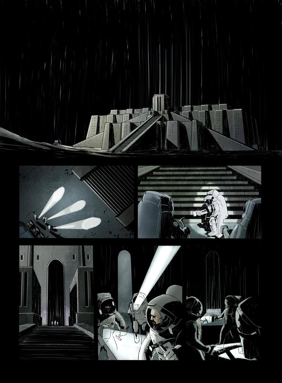 Sci-fi comic page 2 - colors by vitorgorino