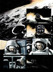 Sci-fi comic page 1 - colors by vitorgorino