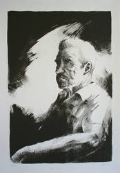 'Jose Cruz' Litograph by vitorgorino