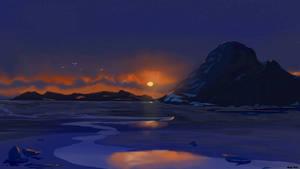 Dusky Winter Sunset