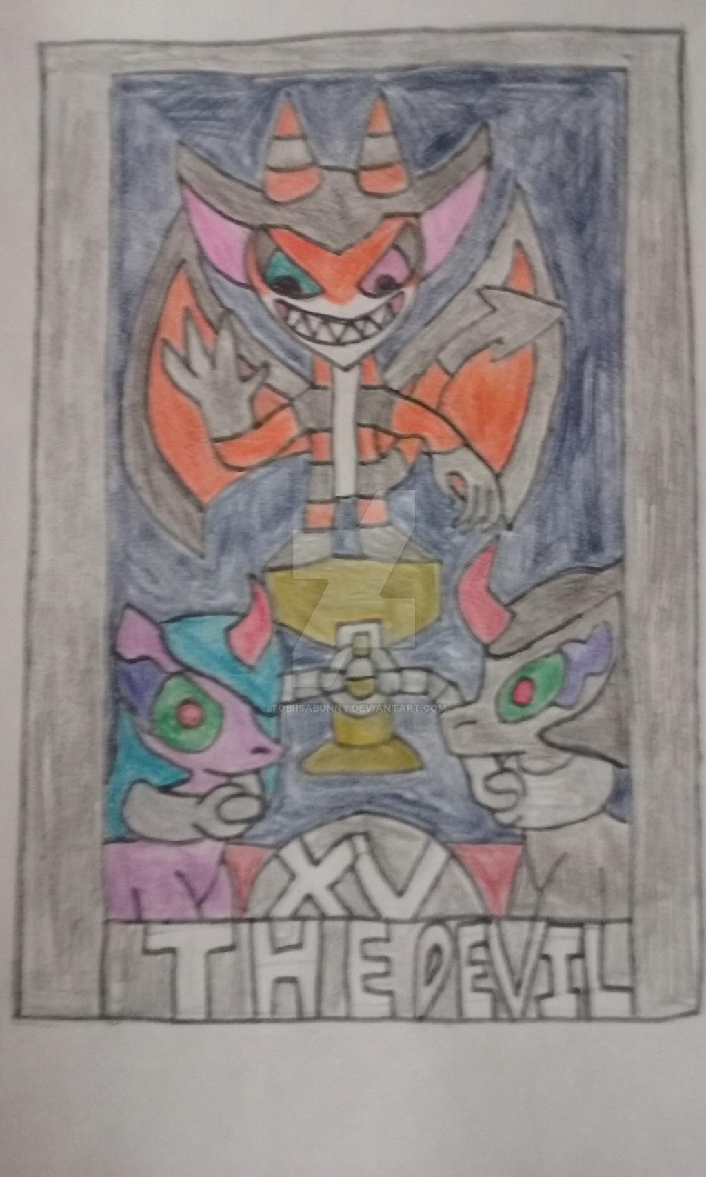 The Devil Tarot Card Number 15 By TobiIsABunny On DeviantArt