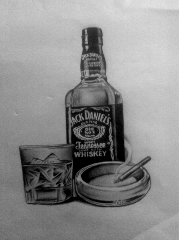 jack daniels bottle drawing - photo #14