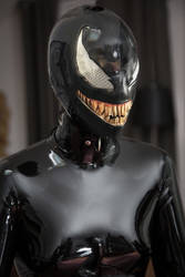 Encased by a latex symbiote  by Stevencdaniels