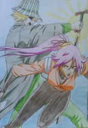 Kisuke and Yoruichi by Ethel106