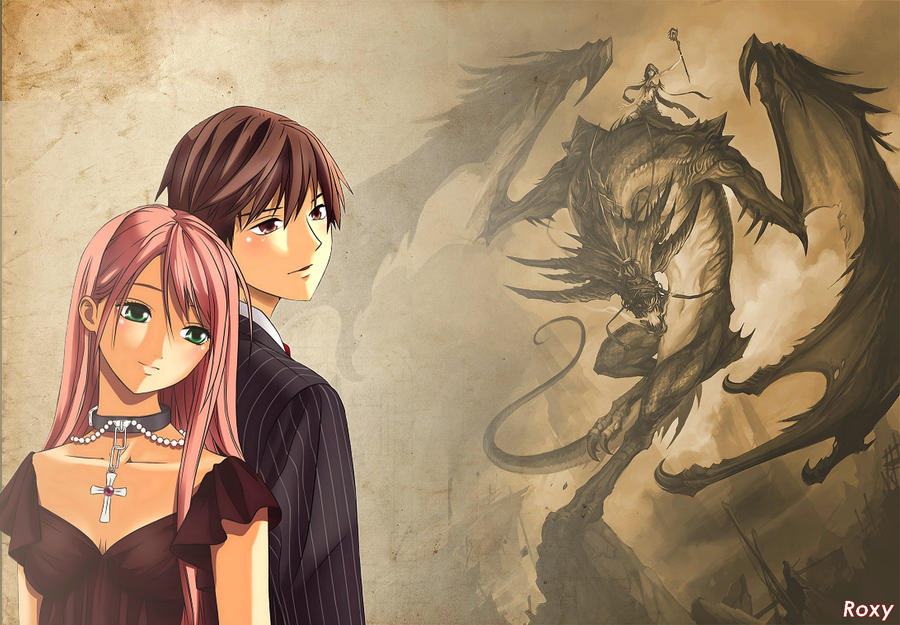 Rosario Vampire Wallpaper By Roxykiwi